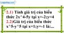Bài 2.1, 2.2 phần bài tập bổ sung trang 20 SBT toán 7 tập 2