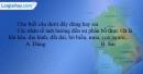 Câu 1 trang 86 SBT địa 6