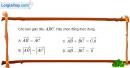 Bài 1.80 trang 47 SBT hình học 10