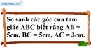 Bài 1 trang 36 SBT toán 7 tập 2