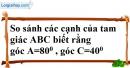 Bài 2 trang 36 SBT toán 7 tập 2