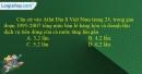 Câu 10 trang 101 SBT địa 12