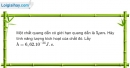 Bài 31.14 trang 89 SBT Vật Lí 12