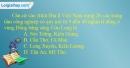 Câu 15 trang 134 SBT địa 12