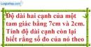 Bài 29 trang 41 SBT toán 7 tập 2