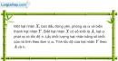 Bài VII.15 trang 121 SBT Vật Lí 12