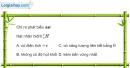 Bài VII.3, VII.4, VII.5 trang 119 SBT Vật Lí 12