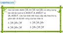 Bài VII.6, VII.7, VII.8  trang 119 SBT Vật Lí 12