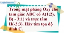 Bài 2.61 trang 105 SBT hình học 10