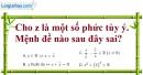 Bài 4.47 trang 209 SBT giải tích 12