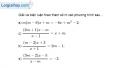 Bài 3.13 trang 66 SBT đại số 10