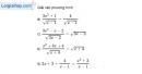 Bài 3.3 trang 56 SBT đại số 10