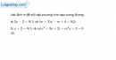Bài 3.4 trang 57 SBT đại số 10