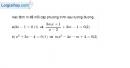 Bài 3.40 trang 76 SBT đại số 10