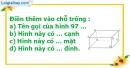 Bài 1 trang 131 SBT toán 8 tập 2