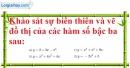 Bài 1 trang 43 SGK Giải tích 12