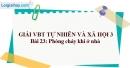 Bài 23: Phòng cháy khi ở nhà (VBT)