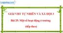 Bài 25: Một số hoạt động ở trường (tiếp theo) (VBT)