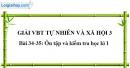 Bài 34-35: Ôn tập và kiểm tra học kì 1 (VBT)