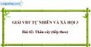 Bài 42: Thân cây (tiếp theo) (VBT)