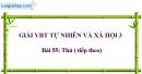 Bài 55: Thú ( tiếp theo) (VBT)