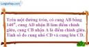 Bài 8 trang 100 SBT toán 9 tập 2