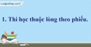 A. Hoạt động thực hành - Bài 10A: Ôn tập 1 - VNEN Tiếng Việt 4