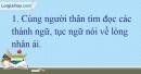 B. Hoạt động ứng dụng - Bài 10A: Ôn tập 1 - VNEN Tiếng Việt 4