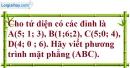 Bài 3.19 trang 114 SBT hình học 12