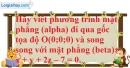 Bài 3.20 trang 114 SBT hình học 12