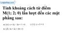 Bài 3.23 trang 115 SBT hình học 12