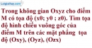 Bài 3.3 trang 103 SBT hình học 12