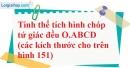 Bài 67 trang 152 SBT toán 8 tập 2