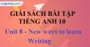 Writing - Unit 8 SBT Tiếng anh 10 mới