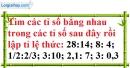Bài 45 trang 26 SGK Toán 7 tập 1