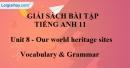 Vocabulary & Grammar - Unit 8 SBT Tiếng Anh 11 mới