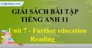 Reading - trang 13 Unit 7 SBT Tiếng anh 11 mới