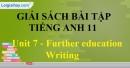 Writing - trang 15 Unit 7 SBT Tiếng Anh 11 mới