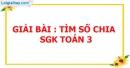 Bài 1, 2, 3 trang 39 SGK Toán 3