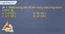 Bài 38.1, 38.2, 38.3, 38.4 trang 91, 92 SBT Vật lí 10