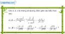 Bài 11 trang 217 SBT giải tích 12