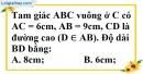 Bài 8 trang 184 SBT toán 8 tập 2