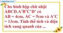 Bài 9 trang 184 SBT toán 8 tập 2