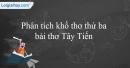 Phân tích khổ thơ thứ 3 bài thơ Tây tiến của Quang Dũng