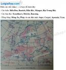 Bài 1 trang 45 Tập bản đồ Địa lí 7