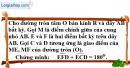 Bài 5.1 phần bài tập bổ sung trang 105 SBT toán 9 tập 2