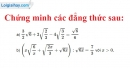 Bài 61 trang 33 SGK Toán 9 tập 1
