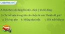 A. Hoạt động  thực hành - Bài 18C: Ôn tập 3 - VNEN Tiếng Việt 4 tập 1