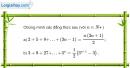 Bài 3.1 trang 107 SBT đại số và giải tích 11