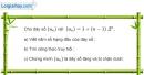 Bài 3.13 trang 118 SBT đại số và giải tích 11